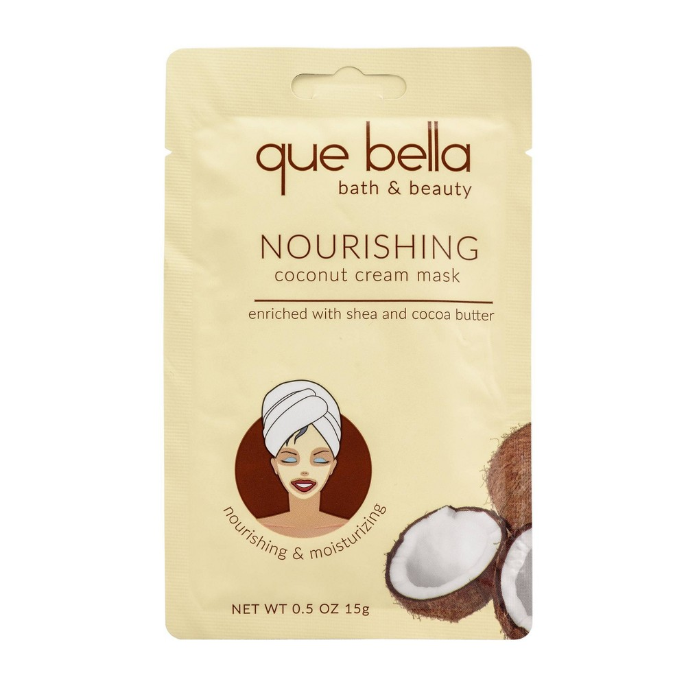 Image of Que Bella Nourishing Coconut Cream Face Mask - 0.5oz