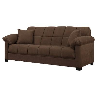 Maurice Pillow Top Arm Convert-A-Couch® - Dark Brown - Handy Living