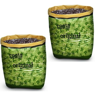 Roots Organics ROD Hydroponic Gardening Ready-to-Grow Coco Fiber-Based Potting Soil, 1.5 Cubic Feet/10 Gallon for Plants (2 Pack)