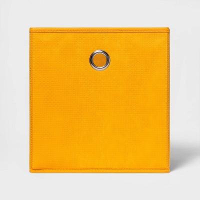 "11"" Fabric Cube Storage Bin Yellow - Room Essentials™"