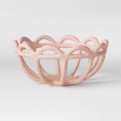 "4.7"" x 10"" Ceramic Bowl Pink - Opalhouse™"