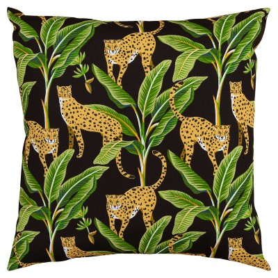 """22""""x22"""" Oversize Poly-Filled Cheetah Print Indoor/Outdoor Square Throw Pillow - Rizzy Home"""