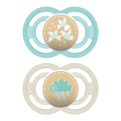 MAM Perfect Pacifier 2ct - Turquoise/White 6+ Months