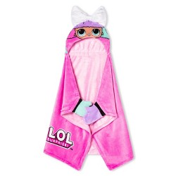 "L.O.L. Surprise! 30""x50"" Toddler Hooded Blanket"