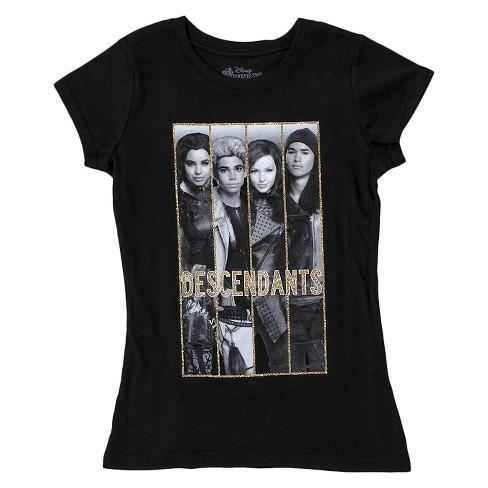 Girls' Disney Descendants T-Shirt - Black XS - image 1 of 1
