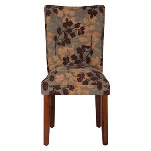 Parsons Dining Chair - Brown/Tan Leaf - HomePop