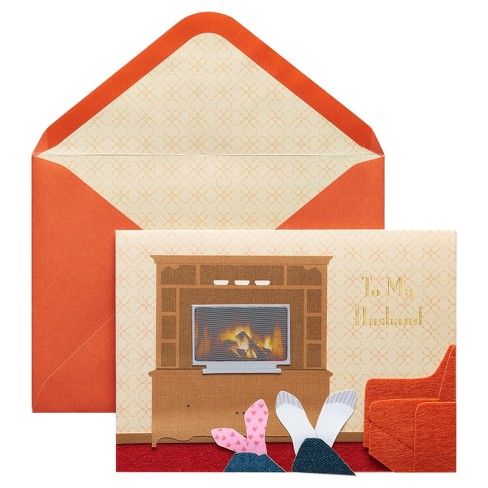 Papyrus Fireplace Father's Day Card with Foil - image 1 of 2