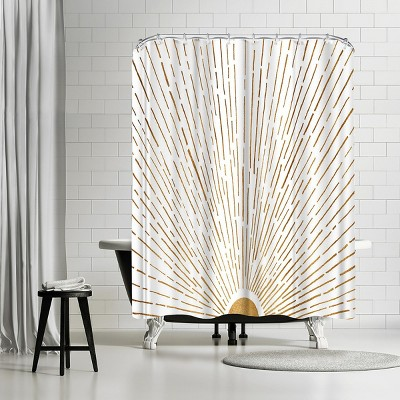 "Americanflat Let The Sunshine In by Modern Tropical 71"" x 74"" Shower Curtain"