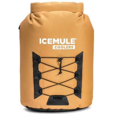 IceMule 1014-TB Pro Large Collapsible Portable Soft Sided Roll Top 23 Liter 18 Can Lightweight Insulated Waterproof Leak Proof Backpack Cooler Bag