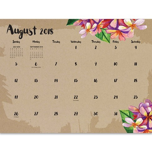2018 2019 academic monthly desk calendar target