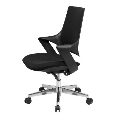 Mia Office Chair Poly Shell and Fabric - Olio Designs