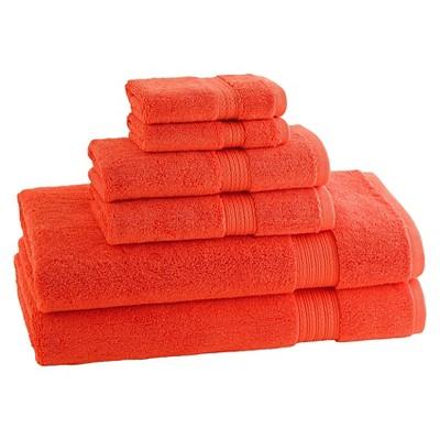 Kassatex Kassadesign Brights Towel Set of 6 - Blood Orange