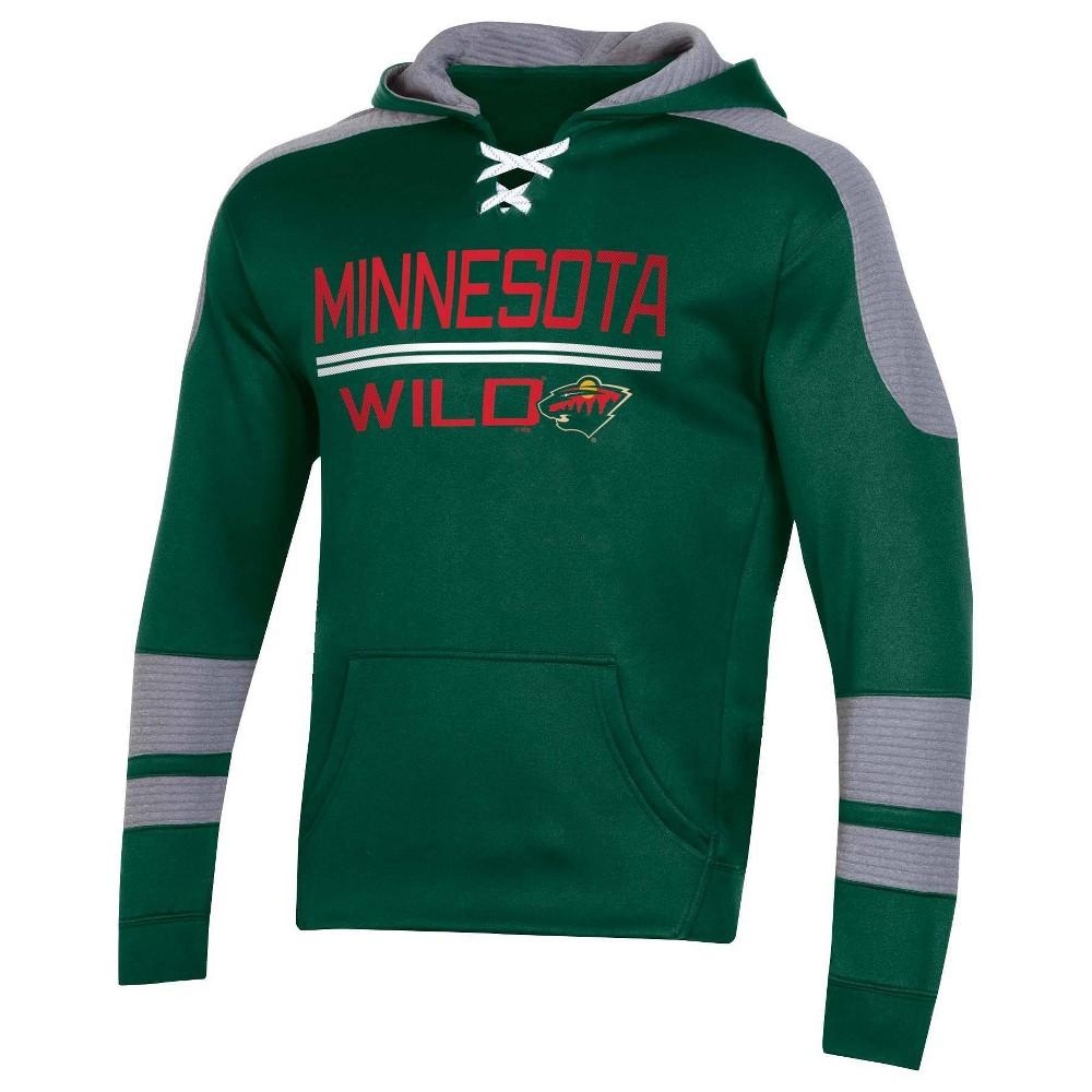 Nhl Minnesota Wild Men 39 S Edge Poly Textured Hoodie Xl