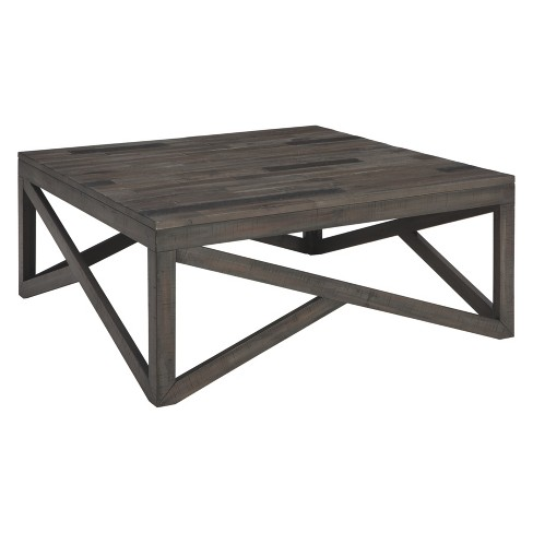 Awesome Haroflyn Square Cocktail Table Gray Signature Design By Ashley Pabps2019 Chair Design Images Pabps2019Com
