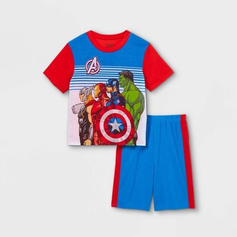 Boys' Marvel Avengers 2pc Pajama Set - Red - image 1 of 3
