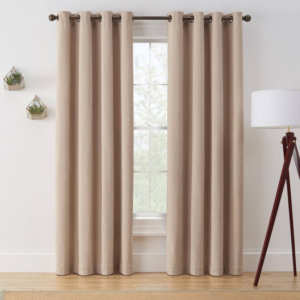 "Coupons 63""x50"" Marco Room Darkening Window Curtain Panel  - Brookstone"
