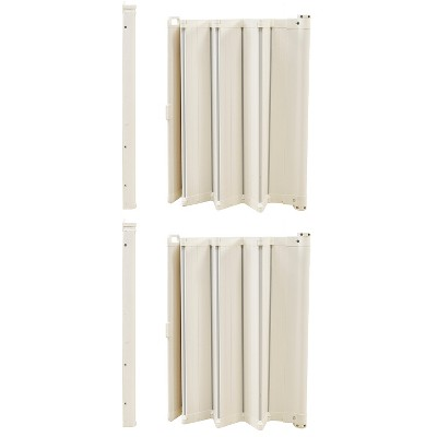 """Scandinavian Pet Design Guard Me Retractable 22"""" to 36"""" Pet Safety Gate, White (2 Pack)"""