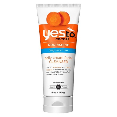 Unscented Yes to Carrots Fragrance Free Daily Cream Facial Cleanser - 6 fl oz - image 1 of 1