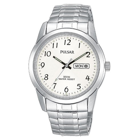 Men's Pulsar Calendar Expansion Watch  - Silver Tone with Silver Dial - PJ6051 - image 1 of 1