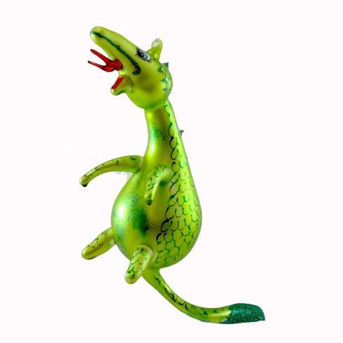 Laved Italian Ornaments Dragon Green Fire Breathing Scales  -  Tree Ornaments - image 1 of 2