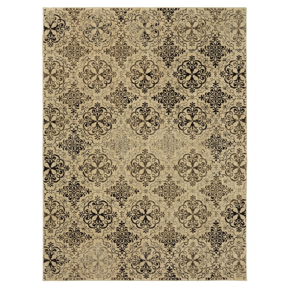 Dark Gray Medallion Woven Area Rug 8'X11' - Karastan