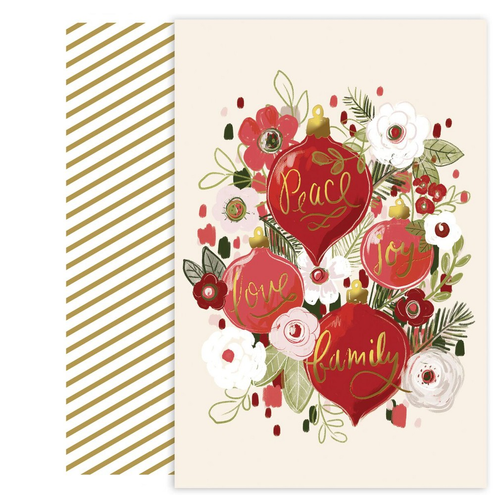 18ct Ornament Bouquet Cards - Canopy Street, Multi-Colored