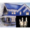 Brite Star 100ct LED M5 Icicle Christmas Lights Warm White - 8' White Wire - image 2 of 2