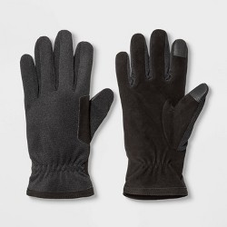 Men's Thinsulate Lined Tech Touch Synthetic Gloves - Goodfellow & Co™ Black
