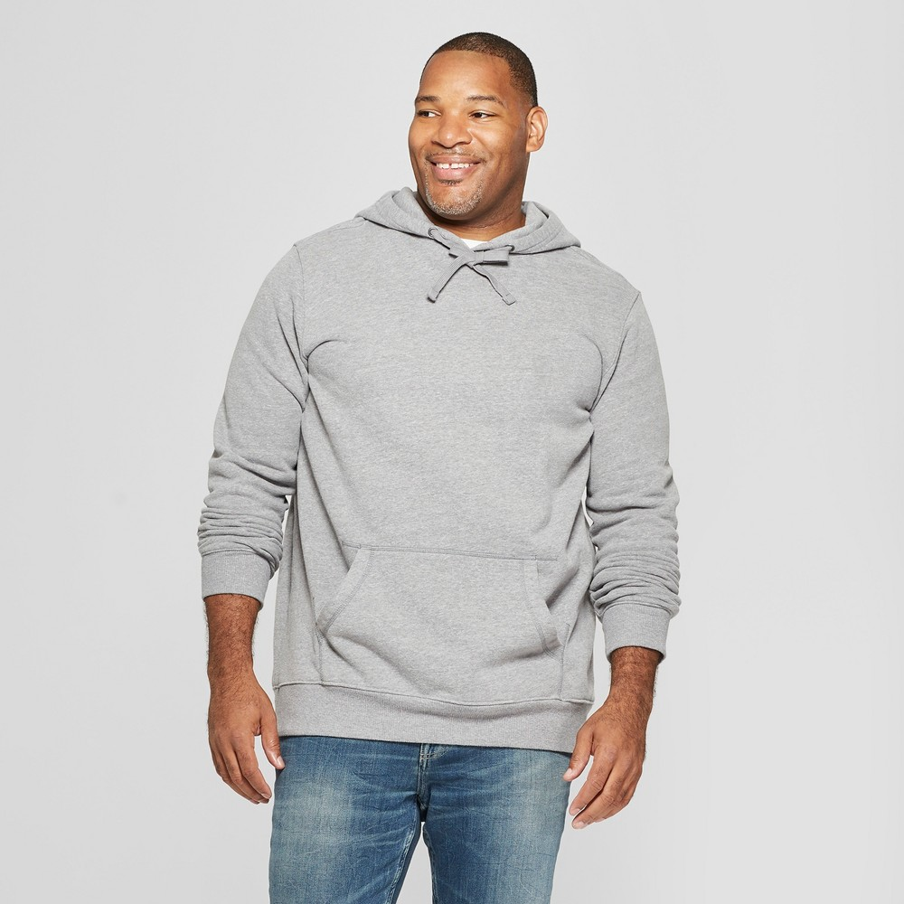 Men's Big & Tall Regular Fit Long Sleeve Fleece Hooded Sweatshirt - Goodfellow & Co Gray 5XB