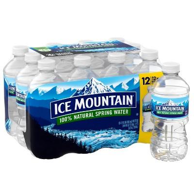 Ice Mountain Brand 100% Natural Spring Water - 12pk/12 fl oz Bottles