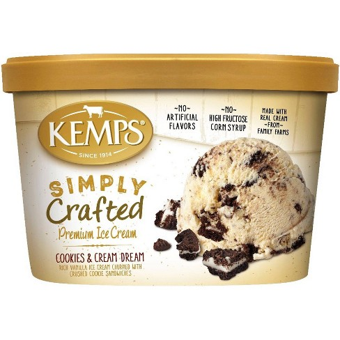 Kemps Simply Crafted Cookies & Cream Dream Ice Cream - 48oz - image 1 of 1