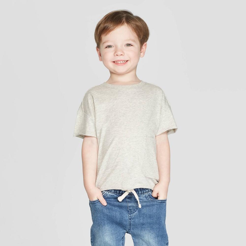 Toddler Boys' Short Sleeve Pocket T-Shirt - art class Light Heather Gray 5T