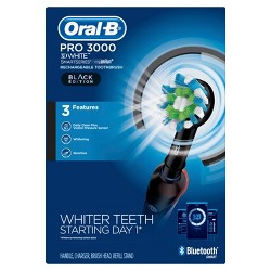 Oral-B Pro 3000 Electric Toothbrush with Bluetooth Connectivity - Black Edition Powered by Braun