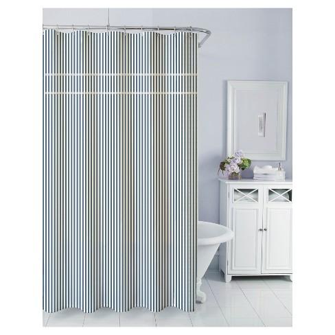 Sunny Day Seersucker Shower Curtain Navy