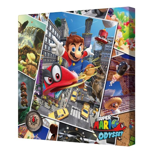 "Nintendo 12""x12"" Canvas Print - Mario Odyssey Collage - image 1 of 1"