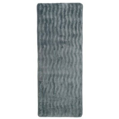 Extra Long Wave Memory Foam Bath Mat - Yorkshire Home