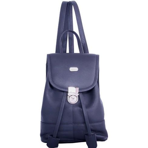 Leatherbay Leather Mini Backpack - Black - image 1 of 2