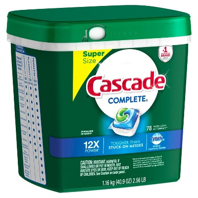 Cascade Fresh Scented Actionpacs Dishwasher Detergent - 78ct
