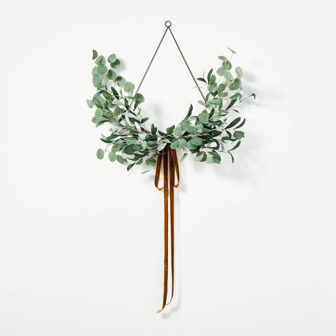 Wire Wreath with Ribbon - Threshold™ designed with Studio McGee - image 1 of 4