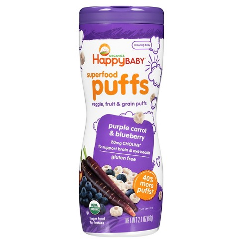 Happy Puffs Purple Carrot & blueberry Puffs 2.1oz - image 1 of 4