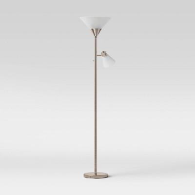 Mother Daughter Floor Lamp Brushed Nickel - Threshold™