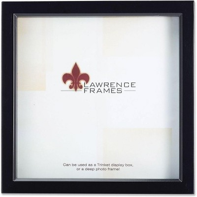 """Lawrence Frames 10"""" x 10"""" Wood Black Shadow Box Picture Frame 795010"""