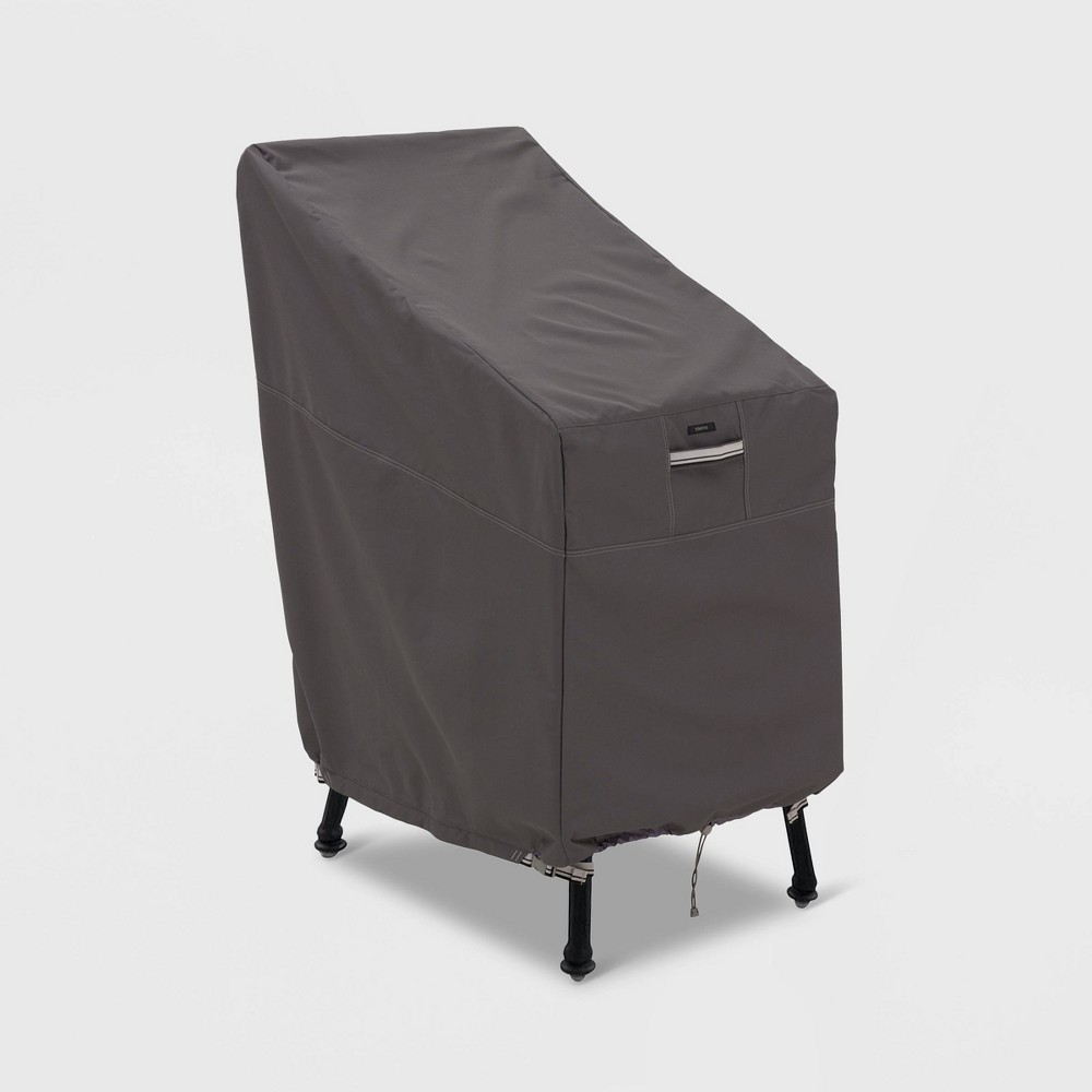 Image of Ravenna Patio Bar Chair & Stool Cover Slate - Classic Accessories, Gray