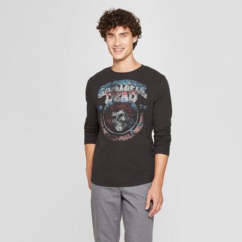a47ee9d7109 Junk Food Men s Long Sleeve Grateful Dead Graphic T-Shirt - Night ...