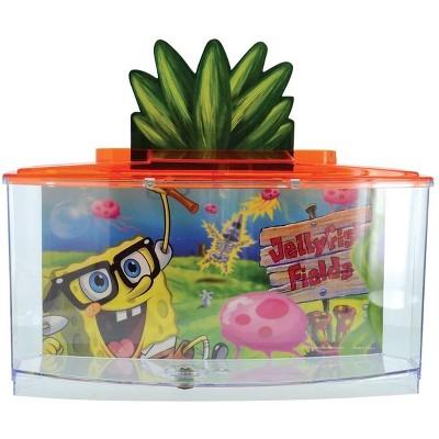 Penn-Plax Spongebob Betta Goldfish Fish Tank, Red 0.7 Gallon Tank