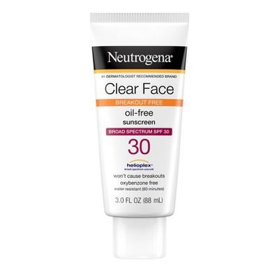 Neutrogena Clear Face Liquid Sunscreen Lotion - 3 fl oz