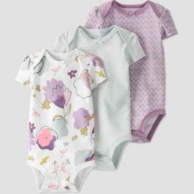 Baby Girls' 3pk Bodysuit - little planet by carter's Purple 24M