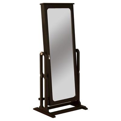 Lola Cheval Mirror/Jewelry Wardrobe Black - Powell Company