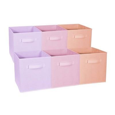 Sorbus 6pk Home Storage Bundle Pastel Drawer and Closet Bins