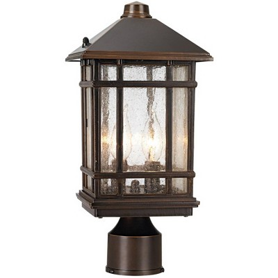 "Kathy Ireland J du J Sierra Craftsman 14"" High Outdoor Post Mount Light"
